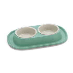 Soft Touch Double Food Bowl...