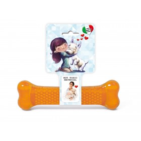 Orange Dog Bone Chew Toy