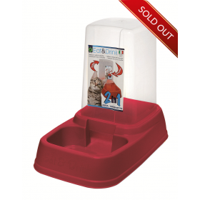 Red Automatic Feeding Bowl
