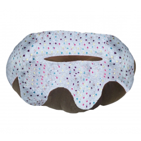 Large Grey Doughnut Pet Bed