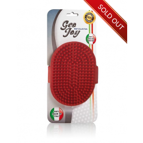 Rubber Grooming Brush Red