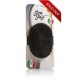 Rubber Grooming Brush Grey